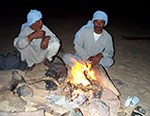 Bedouin around a campfire